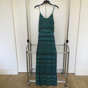 Lush Green Striped Knit Maxi Dress